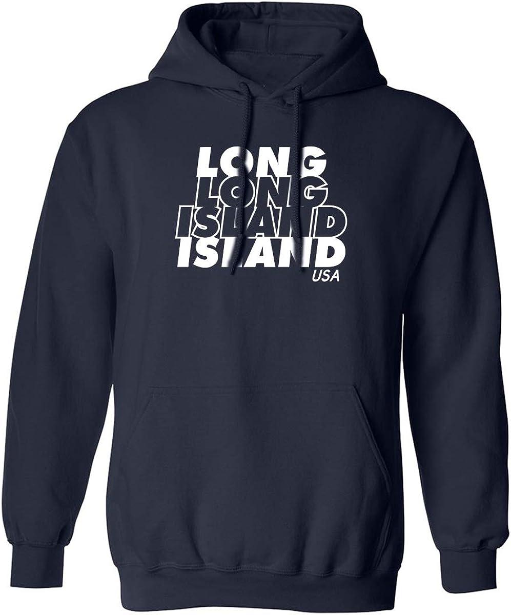 zerogravitee Long Island USA Adult Hooded Sweatshirt