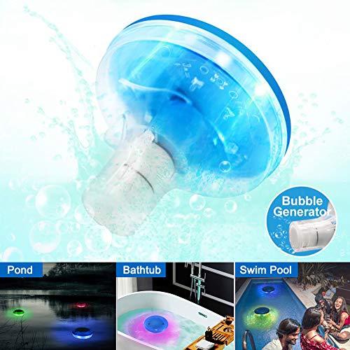 ZOTO Pool-Licht, LED Farbwechsel Partylicht für Schwimmbecken, Unterwasserlicht für Garten Vase Party Fest Dekoration, Wasserfest Schwimmend Licht für Badewanne