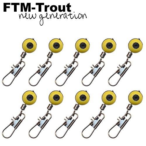 FTM Laufwirbel - 10 Angelwirbel für Futterkörbe, Bodentaster & Laufposen, Wirbel zum Matchangeln & Forellenangeln