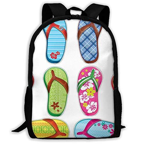 huatongxin Backpack Flip Flops Frenzy Surfboard Zipper School Bookbag Daypack Travel Rucksack Gym Bag for Man Women
