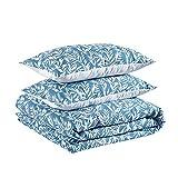 Amazon Basics - Juego de funda nórdica 100% algodón - 225 x 220 cm / 50 x 80 cm, Verde apagado