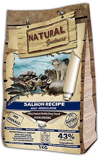 Natural Greatness Salmon Recipe Medium Alimento Seco Completo para Perros - 2000 gr