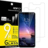NEW'C 2 Unidades, Protector de Pantalla para Xiaomi Redmi Note 6 Pro, Antiarañazos, Antihuellas, Sin Burbujas, Dureza 9H, 0.33 mm Ultra Transparente, Vidrio Templado Ultra Resistente