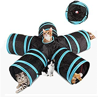 Cat Tunnel Toy Volwco Upgraded 5 Way Large Space Collapsible Pet Play Tunnel Tube Interactive Toy With Storage Bag For Cat...