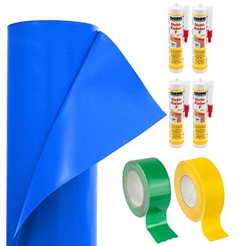 100m² Dampfbrems-System-Paket/Dampfsperre/Dampfsperrfolie/Dampfbremsfolie/Dampfbremse / 2 x Klebeband / 4 x Folien-Dicht-Kleber, für die Abdichtung des Dach-Ausbaus