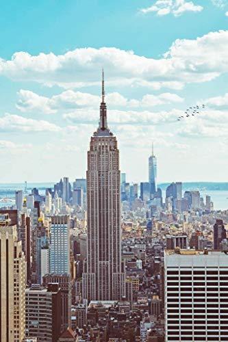 Empire State Building Midtown Manhattan Nueva York Ciudad de Nueva York NYC Art Deco Rascacielos Rompecabezas de madera…