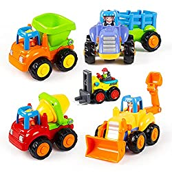 push around construction trucks for toddlers