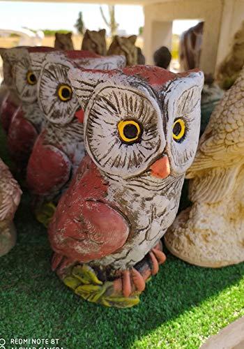 AnaParra Figura Jardin Decorativa Buho XIBECA 21X10cm
