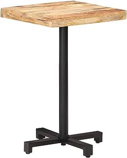 vidaXL Bois de Manguier Brut Table de Bistro Carrée Table de Salle à Manger Table à Dîner Restaurant Café Bar Cuisine Mais...