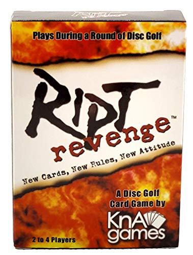 Ript Revenge Disc Golf Card Game   Roligt Disc Golfspel   Spelar under en rund skiva Golf   Spela för skinn eller för slag   2-4 spelare   Förpackning med 52 kort