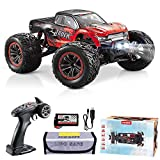 Hosim 1:12 Scale 46+ kmh High Speed RC Cars - Boys Remote Control Cars 4WD 2.4GHz Off Road RC Monster Trucks for Adults Kids.Electric Power Radio Control Cars Gift for Children (Red)