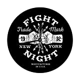 Meili Shop Reloj de Pared Decorativo Big Hipster Boxing Vintage Label Badge Logo Fight Night Flyer o Imprimir con Fi Reloj Redondo Digital