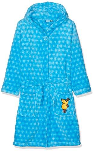 Playshoes DIE MAUS Kinder Fleece-Bademantel Die Maus Blau Accappatoio, Blu 7, 98/104 Bambino