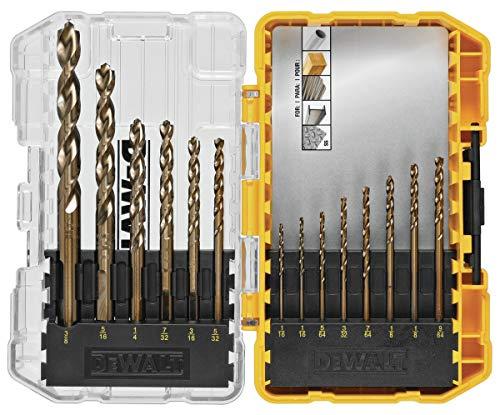 DEWALT DWA1240 14Pc Cobalt Drill Bit Set