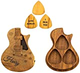 Personalised Custom Wooden Guitar Picks with Guitar Pick Box Case Holder Collector Custom Guitar Pick