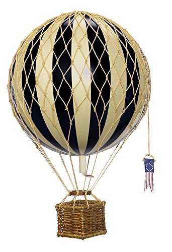 Travel Light Hot Air Balloon Model Black and Ivory Antique Hot Air Balloon