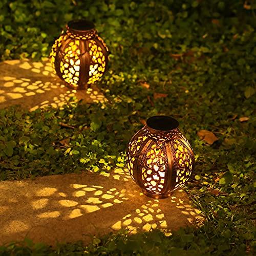 Outdoor Solar Lanterns 2 Pack Solar Lanterns Outdoor Hanging Decorations Outdoor Lanterns for Patio