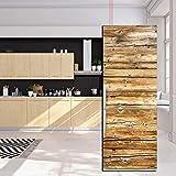JY ART Autocollants de Porte de réfrigérateur Texture de Planche de Bois 3D...