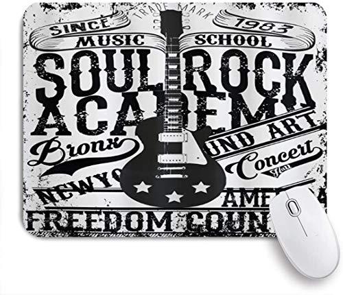 HUAYEXI Alfombrilla Raton Ordenador,Póster Retro Soul Rock Academy Theme Music School Guitarra...