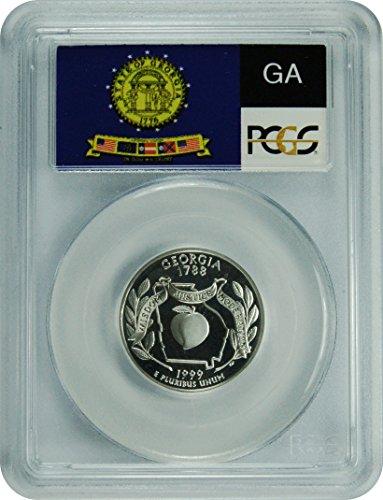 1999 S Georgia SIlver Statehood Georgia SIlver Statehood Quarter DCAM PCGS PR-69