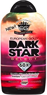 European Gold Dark Star Select, 60x Indoor Tanning Lotion, 13.5 fl oz