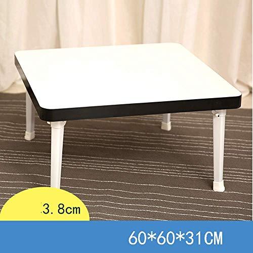 AYHa Lap café Bandeja de escritorio del ordenador portátil cama de pie portátil Escritorio Desayuno bandeja para el sofá cama y un sofá con el MDF placa superior y patas plegables de metal,4