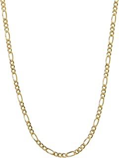 14K Yellow Gold 4.0mm Thick Figaro Link Chain Necklace- Made In Italy- Multiple Lengths Available