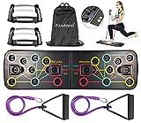 Pasutewel Push-Up-Board, 13-in-1-Multifunktions-Muskelboard mit Handgriff, Bodybuilding-Ständer Board-System Fitness Board Faltbares, Fitnesstraining für zu Hause