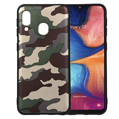 jbTec TPU-Hülle Handy-Hülle Camouflage passend für Samsung Galaxy A20e - Schutz-Hülle Silikon-Hülle Cover Tasche Bumper, Farbe:Grün