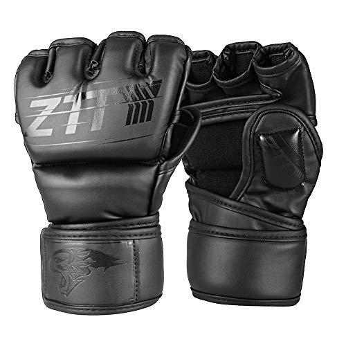 Seektop MMA Handschuhe, MMA Sparring Handschuhe mit offener Handfläche, Boxhandschuhe Sparring Mitts für Grappling, Kampfsport, Muay Thai, Kampfsport, Boxsack, Käfig Kampf und Kickboxen