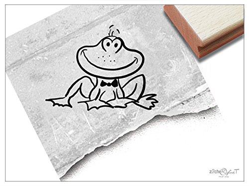 Stempel - Kinderstempel Frosch Kröte - Bildstempel Motivstempel Geschenk für Kinder - Schule Kita Einschulung Basteln Deko - von zAcheR-fineT
