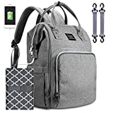 Baby Changing Bag Backpack, Water High Diaper Bag Nappy Rucksack with Travel Changing