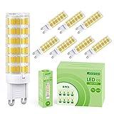 7W Bombillas LED G9, KOOSEED Bombilla LED 3000K Blanco Cálido, Equivalente a Halógena de 70W, 360° de Brillo Para Iluminación de Techo, Dormitorio, Cocina, Depósito, Pack de 8 Unidades