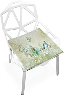 Pingshoes Seat Cushion Birds and Butterflies Beauty Chair Cushion Offices Butt Chair Pads Square Car Mat for Outdoors