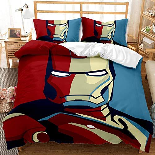 CHRN Spiderman – Juego de cama infantil Marvel, funda de edredón de microfibra Spiderman, personaje de película digital 3D, el mejor regalo (G 220 x 240 cm)