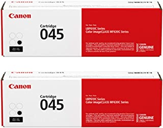 Canon 045 Black Toner Cartridge - 2 Pack in Retail Packing