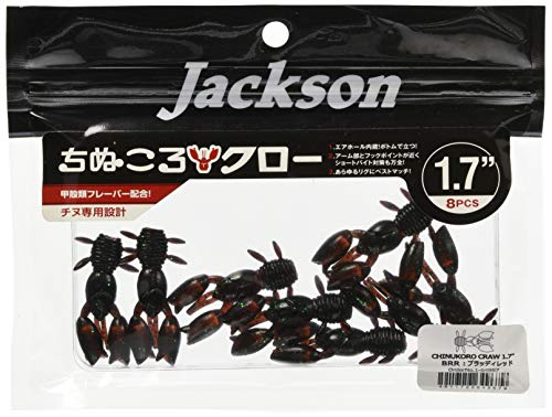 Jackson(ジャクソン) ワーム ちぬころクロー 1.7インチ ブラッディレッド BRR ルアー