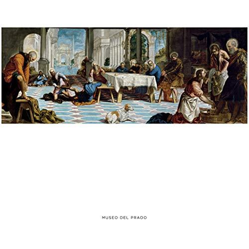 """Lámina del Museo del Prado """"El Lavatorio-Tintoretto"""""""