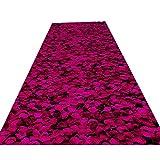 Alfombra de primera calidad para pasillo, lavable, antideslizante, floral, suave, gruesa, para entrada, comedor, de 0,6 cm, multicolor, 0,9 x 3 m