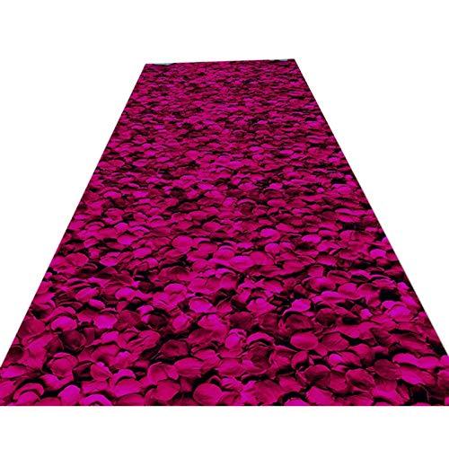 Alfombra de primera calidad para pasillo, lavable, antideslizante, floral, suave, gruesa, para...