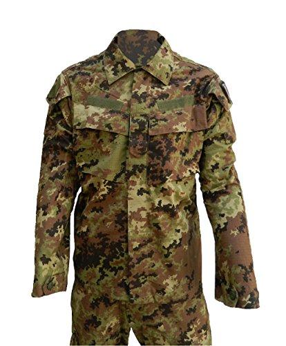 ALGI Completo Tuta Militare da Combattimento Ripstop di Polyfilo Vegetato Mimetico TG. 50