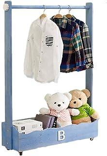 Porte manteau Portemanteau en bois massif, Cintre amovible pour chambre à coucher, Armoire de rangement multifonctionnelle...