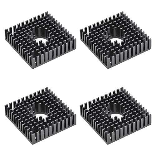 uxcell Heatsink with Hole for Stepper Motor,3D Printer 40x40x11mm Black 4pcs