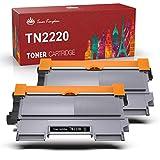 Toner Kingdom TN2220 TN-2220 Cartucho Tóner Compatible Brother TN2220 TN2010 para Brother DCP-7055 HL-2130 HL-2135W MFC-7360N DCP-7055W DCP-7065DN HL-2240D HL-2250DN DCP-7060D FAX-2840 (2 Negro)