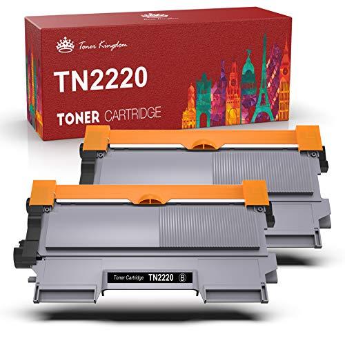 Toner Kingdom TN2220 TN-2220 Cartuccia Toner Compatibile Brother TN2220 TN2010 per MFC-7360N HL-2130 DCP-7055 DCP-7065DN HL-2240 FAX-2840 MFC-7460DN HL-2240D HL-2250DN HL-2135W (2 Nero)