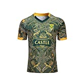 AJUMKER Maillot de Rugby, 19-20 Afrique du Sud 100 e édition Anniversaire, T-Shirts de Loisirs de Plein air for Les Hommes et Les Femmes, Chemises de Formation (Size : S)