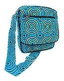 Bolso Bandolera Mujer Hippie Estampados Divertidos Únicos diseños (Rasta Blue)