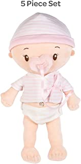 Adora My First Baby Doll Girl, 13 inch Snuggly & Huggable Doll with Ultra-Soft Squeezable Body, Magic Magnetic Pacifier & Diaper