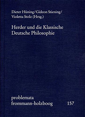 Herder und die Klassische Deutsche Philosophie (problemata, Band 157)