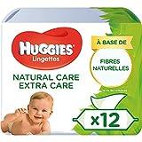 Huggies Natural Care extra Care, sanfte Baby-feuchttücher mit Aloe Vera, 4x3er Pack 4(3x56 Tücher) 672 Tücher